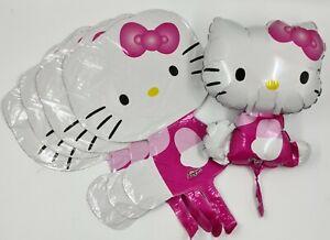 5 x 30cm Hello Kitty Happy Birthday Foil Party Balloon Air Fill Job Lot Loose