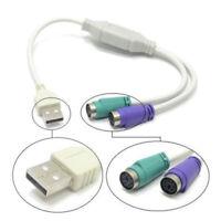 USB Männer zu PS2 weiblichen Kabel Adapter Konverter für PC Tastatur Maus ..