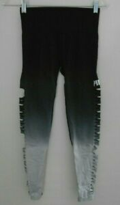 Pink Victoria's Secret Cool & Comfy Black Gray Cutout Tight Leggings Size S