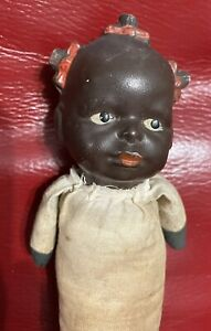 """8"""" Bisque Head African American Doll Japan"""