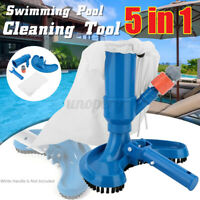 5 IN 1 Swimming Pool Vacuum Cleaner Brush Head Tool Tub Fountain Pond Hot Spond