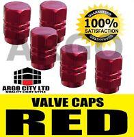 Hexagonal Rouge Solide Aluminium Soupape Roue Pneu Bouchon Anti-poussière Vélo