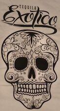 Exotico Tequila - White T Shirt...Skull Logo - Grateful Dead...Men's Large...NEW