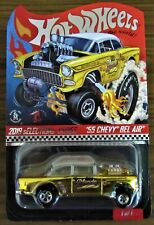 2019 Hot Wheels Selections '55 Chevy Bel Air Gasser Dirty Blonde Red Line Club
