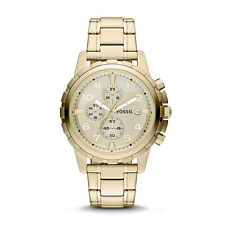 FOSSIL FS4867 Dean Chronograph Gold Tone Date Stainless Steel 45mm Mens Watch