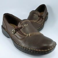 Earth Spirit GELRON 2000 Moccasins Womens Size 9.5M Brown Leather Slip-On Loafer