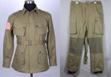 Collectable WWII US Military Army M42 Airborne Jumpsuit Jacket&Trousers XXXL