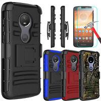 For Motorola Moto E5 Play/Cruise Case With Kickstand Belt Clip+Screen Protector