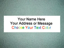 "160  Personalized Small Return Address Labels - 1/2"" x 1 3/4"" Free USA Shipping"