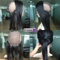 Pre Plucked Peruvian Virgin Human Hair 360 Lace Frontal Band with Wig Cap Remy