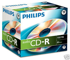 Philips CD-R 80min 700MB Audio 10er Pack CD Rohlinge CR7A0NJ10/00