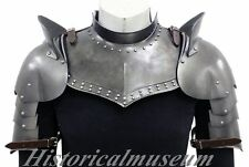 Medieval Larp Armor Gorget Set W/Pauldrons Shoulder Guard halloween costumes C4L