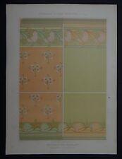 MULIER / Planche 2 / DECORATION MURALE églantine peinture Art Nouveau Jugendstil