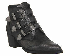 Buckle Ankle 100% Leather Boots OFFICE for Women