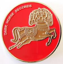 Dark Horse Records Pin / Rare Red w/Silver plate - George Harrison Om Beatles