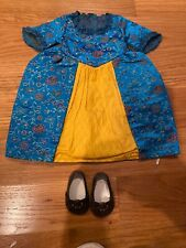 American Girl Doll Felicity Dress And Shoes New