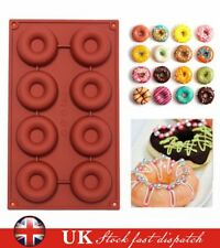 Silicone Donut Doughnut Muffin Pan Maker Soap Cake Mold Baking Mould Ice Tray UK