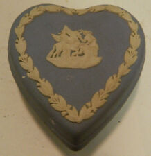Vintage Wedgwood Jasperware Heart Shaped Pegasus Trinket Box Excellent Condition