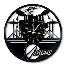 """Musical Clock Vinyl Record 12 """"Quartz Wall Clock For Music Enthusiasts Gifts"""
