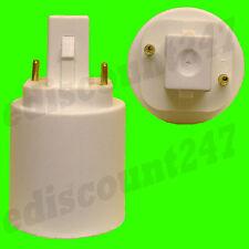 HIGH QUALITY G24 to E27 - 2 PIN Light Bulb Lamp Adaptor Holder LED UK SELLER.
