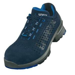Uvex 1 Perforated S1 Trainer, Grey/Blue