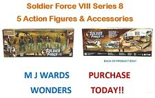Soldier Force VIII Series 8 - 5 Action Figures & Accessories