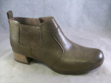 NEW DANSKO WOMEN'S LOLA ZIPPER ANKLE BOOTS TAUPE LEATHER 38 8 MEDIUM $170  A