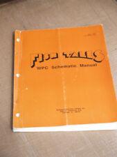 Original Pinball Fish Tales WPC Schematics Manual Williams Flipper