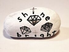 Handmade decor stone paperweight, low-price gift, shine like a diamond, giftidea