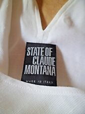 Stunning Vintage State of Claude Montana White Tailored Top UK 10, I 44.