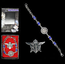 Anime Black Butler Kuroshitsuji Ciel Ring Bracelet badge Brooch Cosplay Set