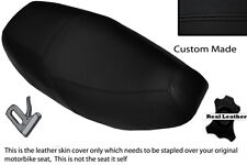 BLACK STITCH  CUSTOM FITS PIAGGIO SKIPPER 125 DUAL LEATHER SEAT COVER