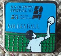Volleyball U.S. Olympic Festival pin badge 1987 NCAS North Carolina
