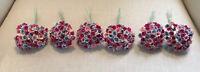 Vintage Lot 6 Bouquets Forget Me Not Millinery Flowers Stems Doll Corsage Trim