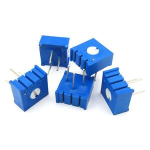5PCS 3386P 10K P103 Precise 1-Turn Horizontal Pot Cermet Trimmer Potentiometer