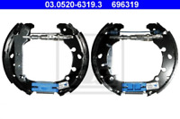 Bremsbackensatz für Bremsanlage Hinterachse ATE 03.0520-6319.3