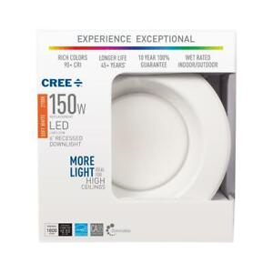 4 150 Watt Equivalent 2700K Soft White Integrated LED Recessed Downlight Trim