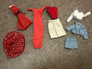 MIXED LOT BARBIE KEN SKIPPER CLOTHES FASHION MATTEL 1980's