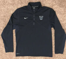 Euc Men's Nike Villanova 1/4 Zip Pullover Navy Blue Size Medium
