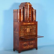 Antique 19th Century Inlaid Mahogany Empire Secretary, circa 1810-1820