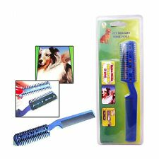 Pet Dog Cat Hair Trimmer With Comb + 2 Razor Cutting Grooming C... Free Shipping