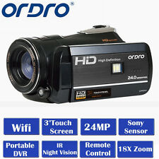 "ORDRO HDV-D395 Full HD 1080P 18X Zoom 3""LCD Touch Digital Video Camera Camcorder"