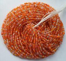 Orange Creamsicle Mix Czech Glass Seed Beads 12 Strand Full Size Hank 10/0
