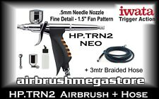 Iwata Neo Airbrush HP.TRN2 .5mm Inc: 3mtr Braided Hose + Free Insured Post
