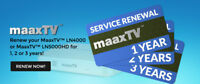 MaaxTV Renewal Code LN4000 LN5000 LN6000 - 2 years renew - fast e-mail delivery