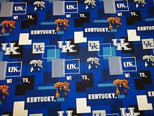 UNIVERSITY OF KENTUCKY  WILDCATS NEW BLOCK  SQUARE DESIGN  100% COTTON 1 REMNANT