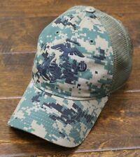 USMC United States Marine Corps - EGA Eagle Globe & Anchor Mesh Hat Digital Camo