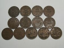 13 Year Run George V & VI Small Cents 1927 to 1939 CANADA.  #8