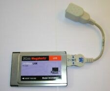 3Com Megahertz 10Mbps PCMCIA Ethernet LAN PC Card 3CCE589ET with Dongle Cable