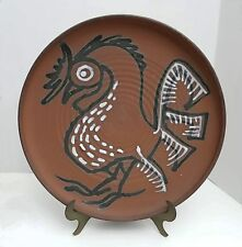 "Vtg RAYMOND GALLUCCI Studio Pottery 15"" ROOSTER CHARGER Allentown Pa Baum School"
